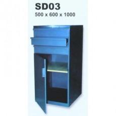 Skříňka dílenská, 3 zásuvky pod sebou SD03