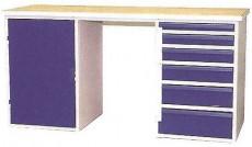 Dílenský stůl 6-ti zásuvkový DS 15