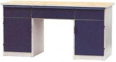Dílenský stůl PONK, 3 zásuvky, 2 skříňky DS 11