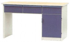 Dílenský stůl PONK, 3 zásuvky, 1 skříňka DS 12